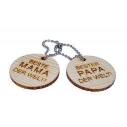 Holz-Schlüsselanhänger Set