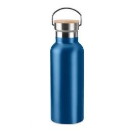 Edelstahl-Trinkflasche  mit Bambusdeckel
