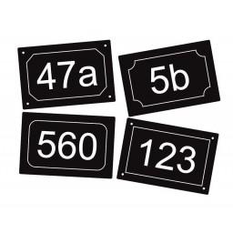 Aluminium Hausnummer