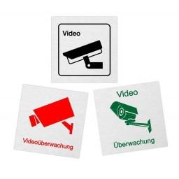 Aluminiumschild  Videoüberwachung