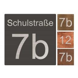 Edelstahl Hausnummer Typ 1