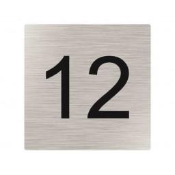 Edelstahl Hausnummer Typ 2