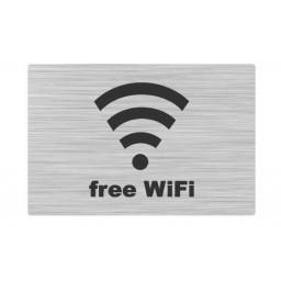 Edelstahlschild  WiFi