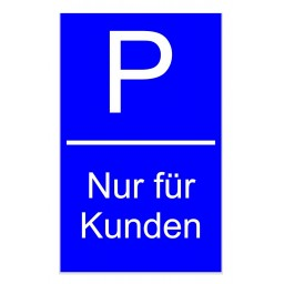 Kunststoffschild *Parkplatz*