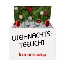 Weihnachts-Teelicht Tannenzweige
