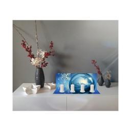 Weihnachts-Teelicht Blaue Kugel
